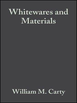 cover image of Whitewares and Materials
