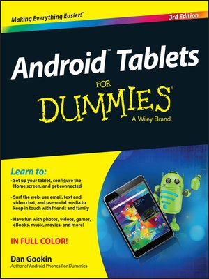 cover image of Android Tablets for Dummies