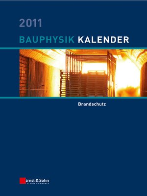 cover image of Bauphysik-Kalender 2011