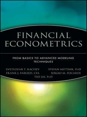 cover image of Financial Econometrics