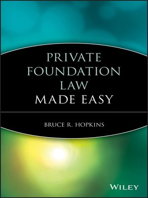 cover image of Private Foundation Law Made Easy