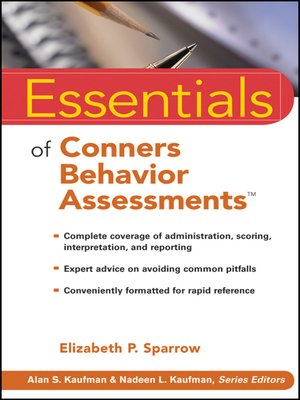 conners comprehensive behavior rating scales pdf