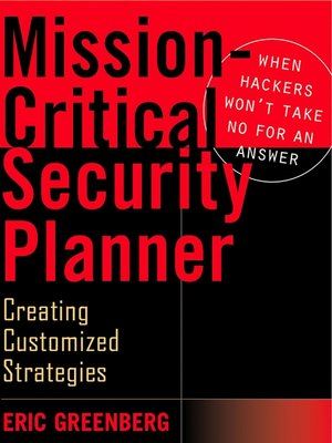 cover image of Mission-Critical Security Planner