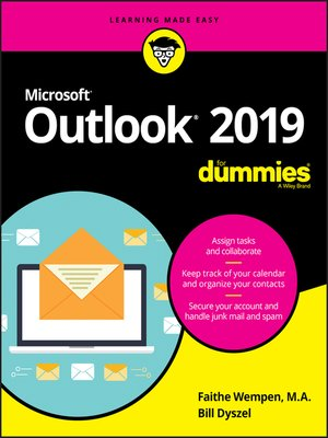 cover image of Outlook 2019 For Dummies