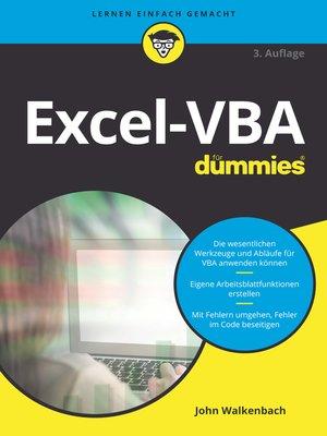 cover image of Excel-VBA für Dummies