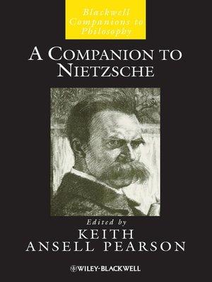 cover image of A Companion to Nietzsche