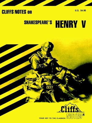 cover image of CliffsNotes on Shakespeare's Henry V