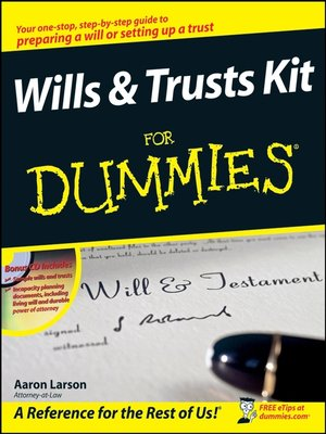 cover image of Wills and Trusts Kit For Dummies