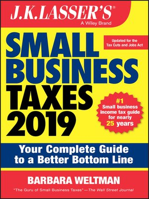 cover image of J.K. Lasser's Small Business Taxes 2019