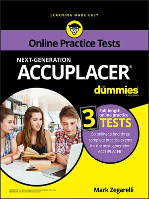 cover image of ACCUPLACER For Dummies with Online Practice