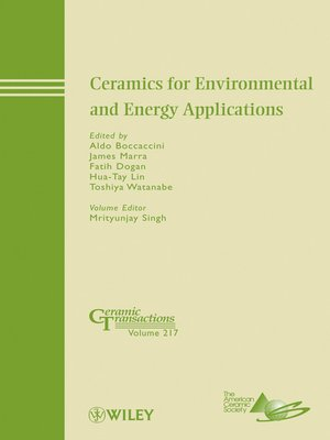 cover image of Ceramics for Environmental and Energy Applications
