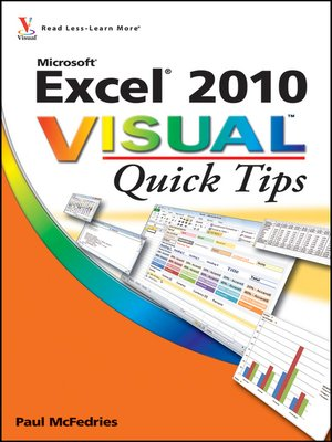 cover image of Excel 2010 Visual Quick Tips