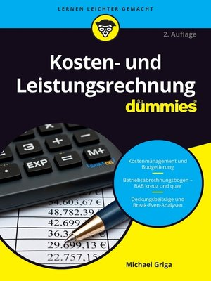 cover image of Kosten- und Leistungsrechnung für Dummies