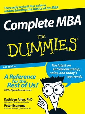 cover image of Complete MBA For Dummies