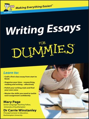 cover image of Writing Essays For Dummies