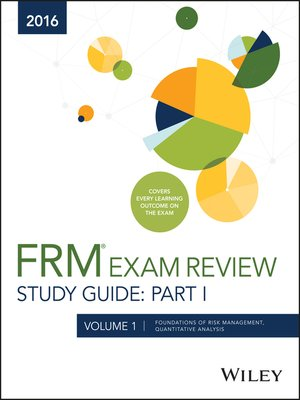cover image of Wiley FRM Exam Review Study Guide 2016 Part I, Volume 1