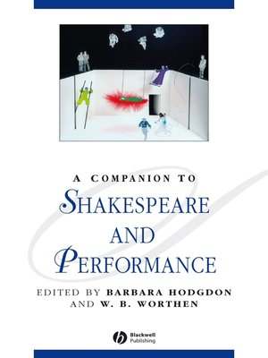 cover image of A Companion to Shakespeare and Performance