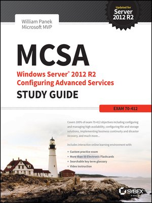 cover image of MCSA Windows Server 2012 R2 Configuring Advanced Services Study Guide