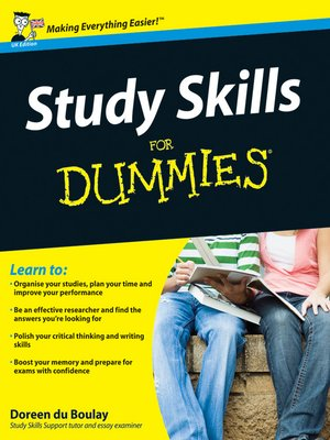 cover image of Study Skills For Dummies