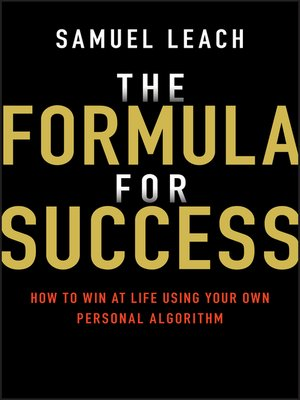cover image of The Formula for Success