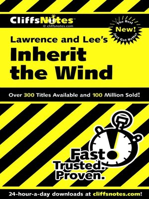 cover image of CliffsNotes<sup>TM</sup> Inherit the Wind
