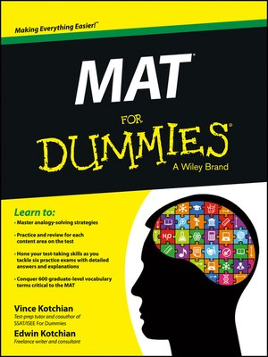 cover image of MAT For Dummies