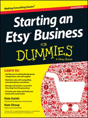 cover image of Starting an Etsy Business For Dummies