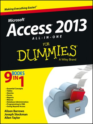 cover image of Access 2013 All-in-One For Dummies