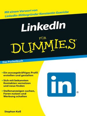 cover image of LinkedIn für Dummies