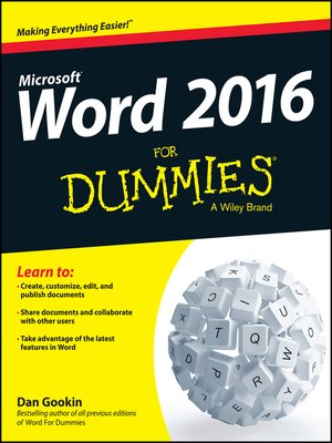cover image of Word X For Dummies