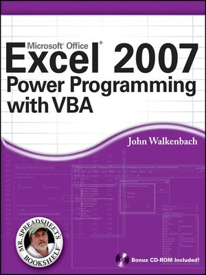 cover image of Excel 2007 Power Programming with VBA