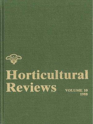 horticultural reviews volume 23 janick jules