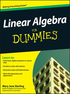 cover image of Linear Algebra For Dummies