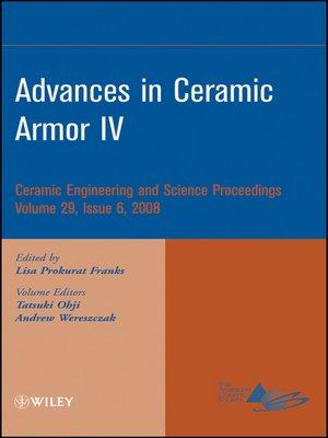 cover image of Advances in Ceramic Armor IV