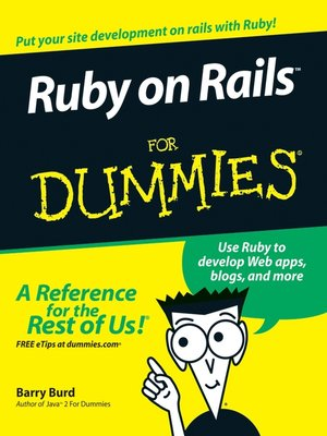 cover image of Ruby on Rails For Dummies