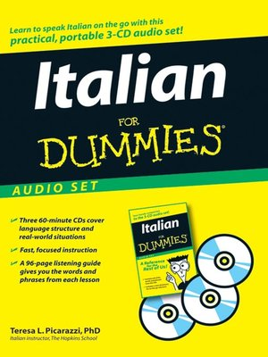 cover image of Italian For Dummies