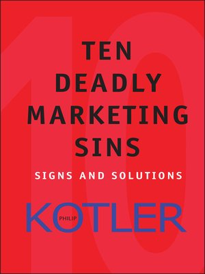 cover image of Ten Deadly Marketing Sins