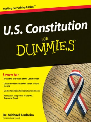cover image of U.S. Constitution For Dummies®