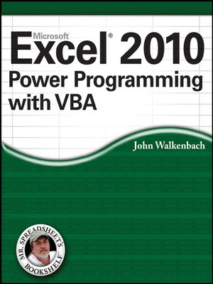 cover image of Excel 2010 Power Programming with VBA