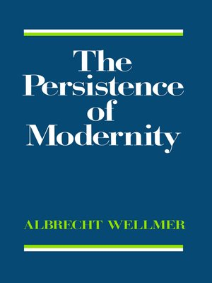cover image of The Persistence of Modernity