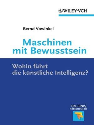 cover image of Maschinen mit Bewusstsein