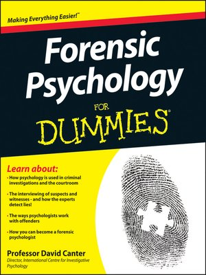 cover image of Forensic Psychology For Dummies