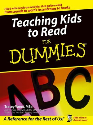 cover image of Teaching Kids to Read For Dummies
