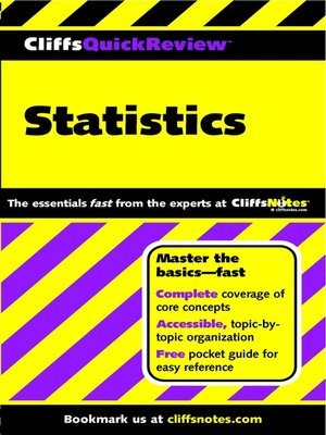 cover image of CliffsQuickReview Statistics