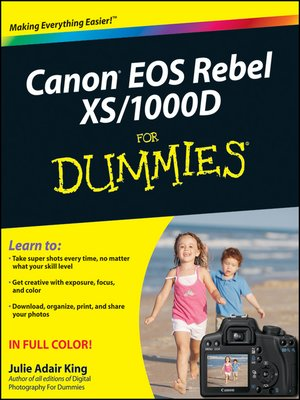 cover image of Canon EOS Rebel XS/1000D For Dummies