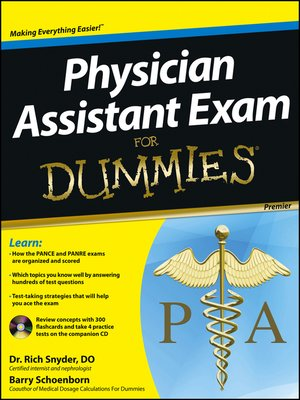 cover image of Physician Assistant Exam For Dummies