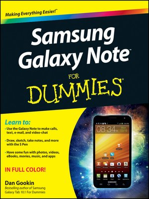 cover image of Samsung Galaxy Note For Dummies