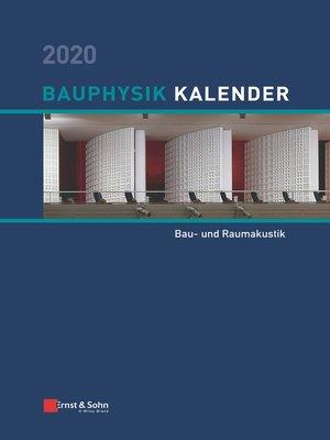 cover image of Bauphysik-Kalender 2020