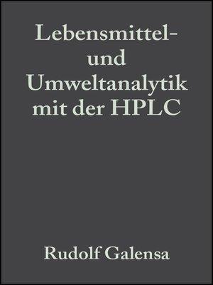 cover image of Lebensmittel- und Umweltanalytik mit der HPLC