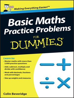 cover image of Basic Maths Practice Problems For Dummies